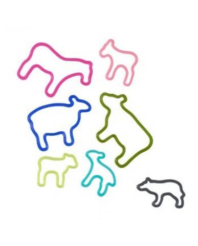 日本+d 動物橡皮筋禮盒(28只)-農場