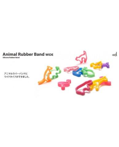 日本+d 動物橡皮筋禮盒(6只)寬版-動物園