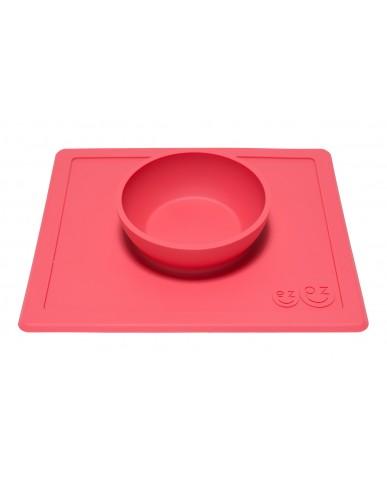 美國 ezpz Happy Bowl 快樂餐碗 (珊瑚紅)