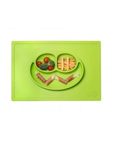 美國ezpz  Happy Mat快樂餐盤 (蘋果綠)