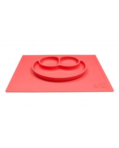 美國ezpz  Happy Mat快樂餐盤  (珊瑚紅)