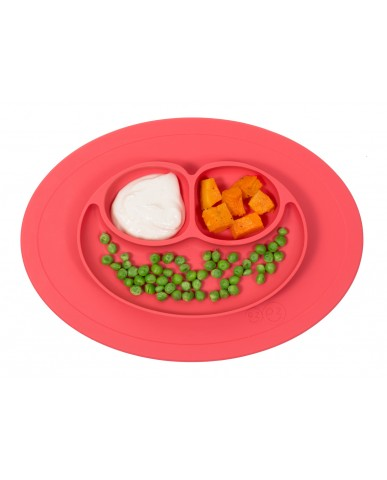 美國ezpz  Mini Mat迷你餐盤 (珊瑚紅)