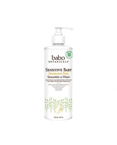 美國 Babo Botanicals 燕麥乳油木洗髮沐浴露(家庭號)-敏感肌  473ml