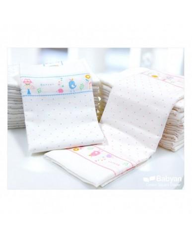 韓國Babyan 純棉澡巾  90x90cm  粉紅小鳥
