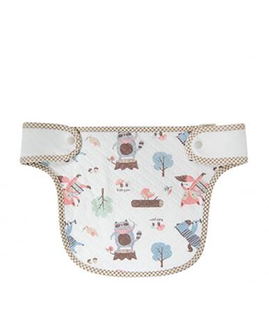 韓國Babyan 100% 純棉 背巾口水巾  厚款動物樂園(胸前)