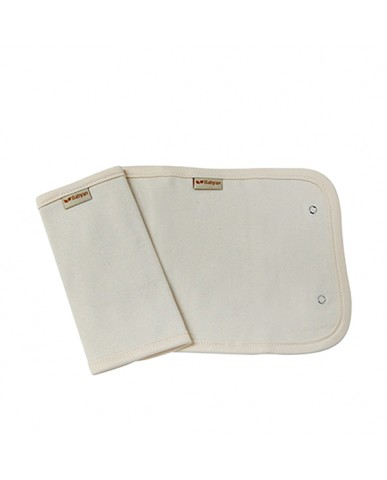 韓國Babyan 有機棉背巾口水巾  素面(兩側)