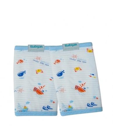 韓國Babyan 純棉 背巾口水巾  海底世界(兩側)