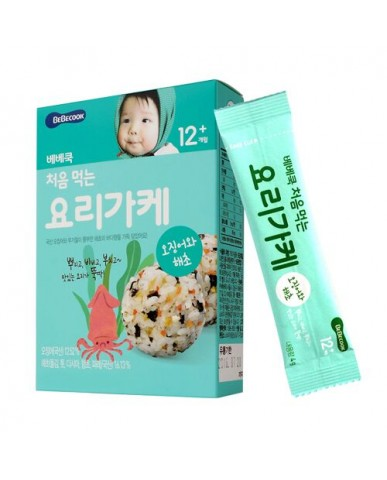 【BEBECOOK】寶膳 智慧媽媽 初食拌飯香鬆 海苔魷魚(28g)