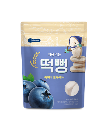 【BEBECOOK】寶膳 嬰幼兒藍莓初食綿綿米餅(30g)
