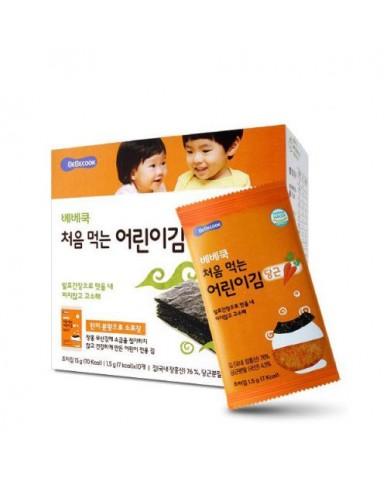 【BEBECOOK】寶膳 幼兒紅蘿蔔海苔(一盒)