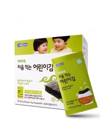 【BEBECOOK】寶膳 幼兒原味海苔(一盒)