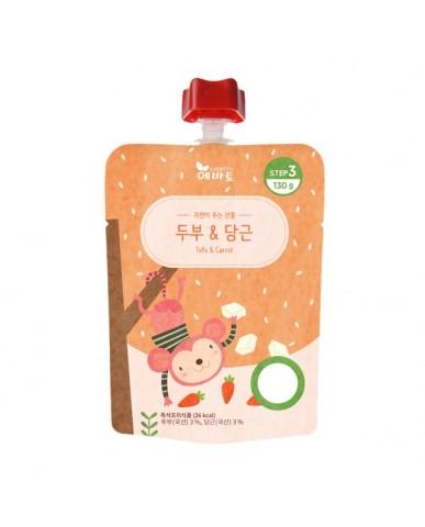 韓國 Evertto 愛兒多 嬰幼兒即食粥- 紅蘿蔔豆腐(9m+) 130g