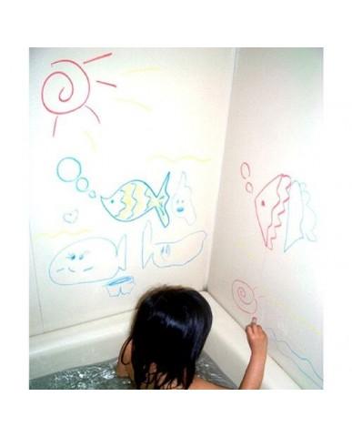 日本Kitpas 浴室繪畫筆(灰粉棕)