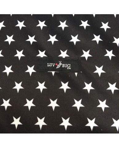 美國Luv Bug 二合一防水提籃遮布-黑色星星
