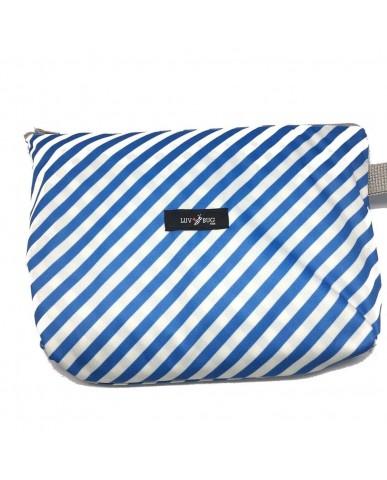 美國Luv Bug 二合一防水提籃遮布-藍色條紋