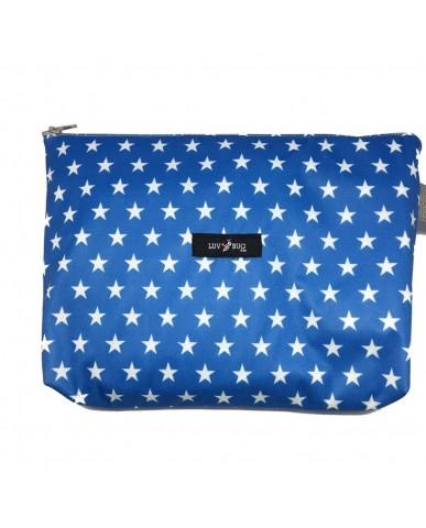 美國Luv Bug 二合一防水提籃遮布-藍色星星