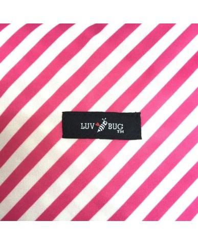美國Luv Bug 二合一防水提籃遮布-紅色條紋
