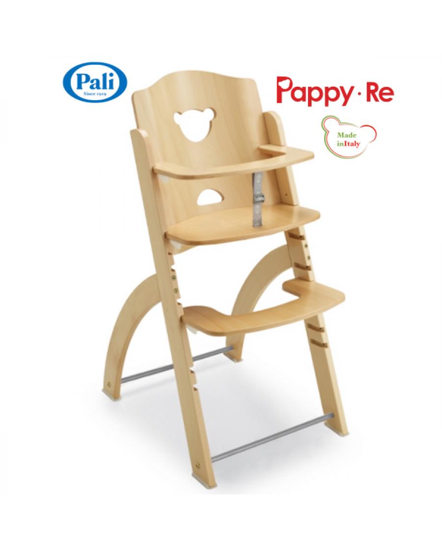 義大利Pali Pappy Re 兒童成長椅-單椅-原木