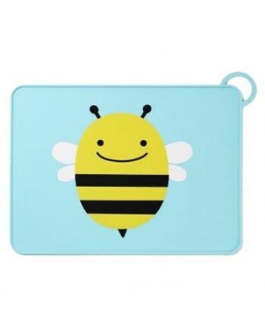 美國 SKIP HOP 可愛動物園矽膠餐墊-蜜蜂