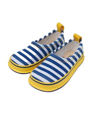 日本SKIPPON─兒童休閒機能鞋 黃藍撞色條紋