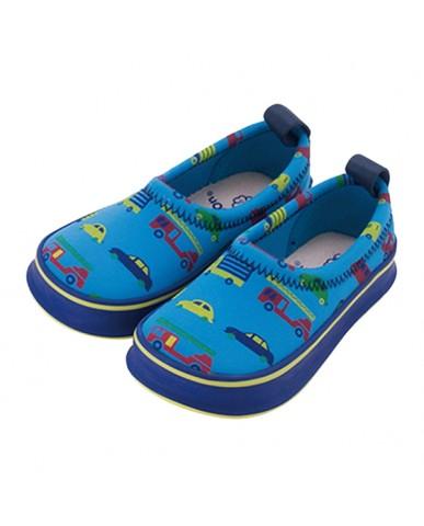 日本SKIPPON─兒童休閒機能鞋 藍底炫車