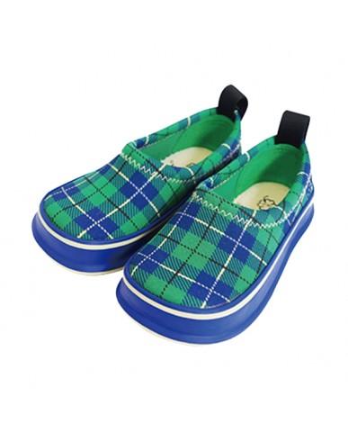 日本SKIPPON─兒童休閒機能鞋 百搭綠格紋