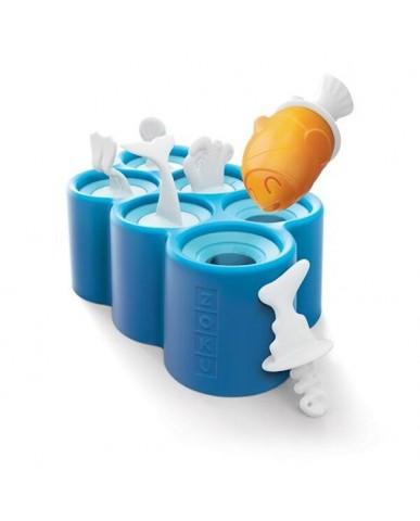 美國ZOKU 小魚造型冰棒模具組(六入裝)