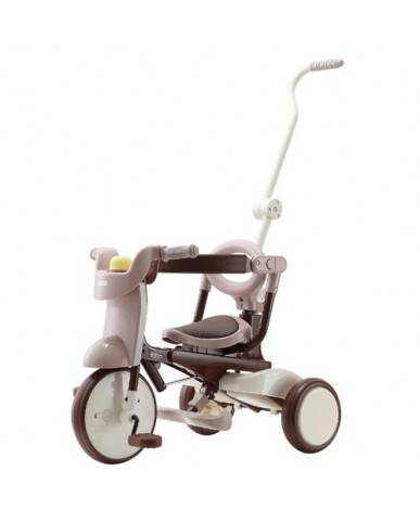 日本iimo #02兒童三輪車(折疊款-棕色)