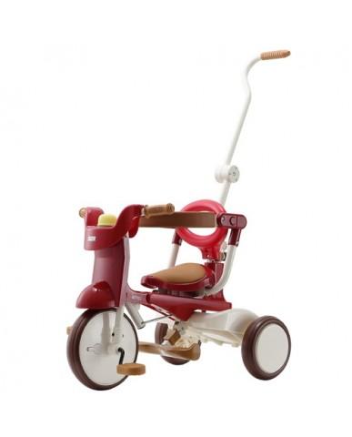 日本iimo #02兒童三輪車(折疊款-紅色)