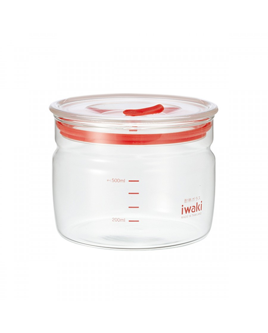 日本iwaki 耐熱玻璃微波密封罐  550ml