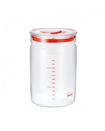 日本iwaki 耐熱玻璃微波密封罐1.45L
