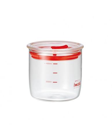 日本iwaki 耐熱玻璃微波密封罐  400ml