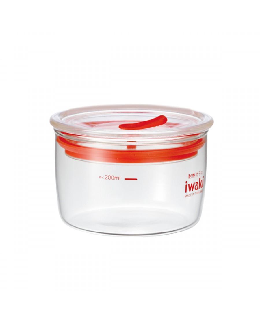 日本iwaki 耐熱玻璃微波密封罐  220ml