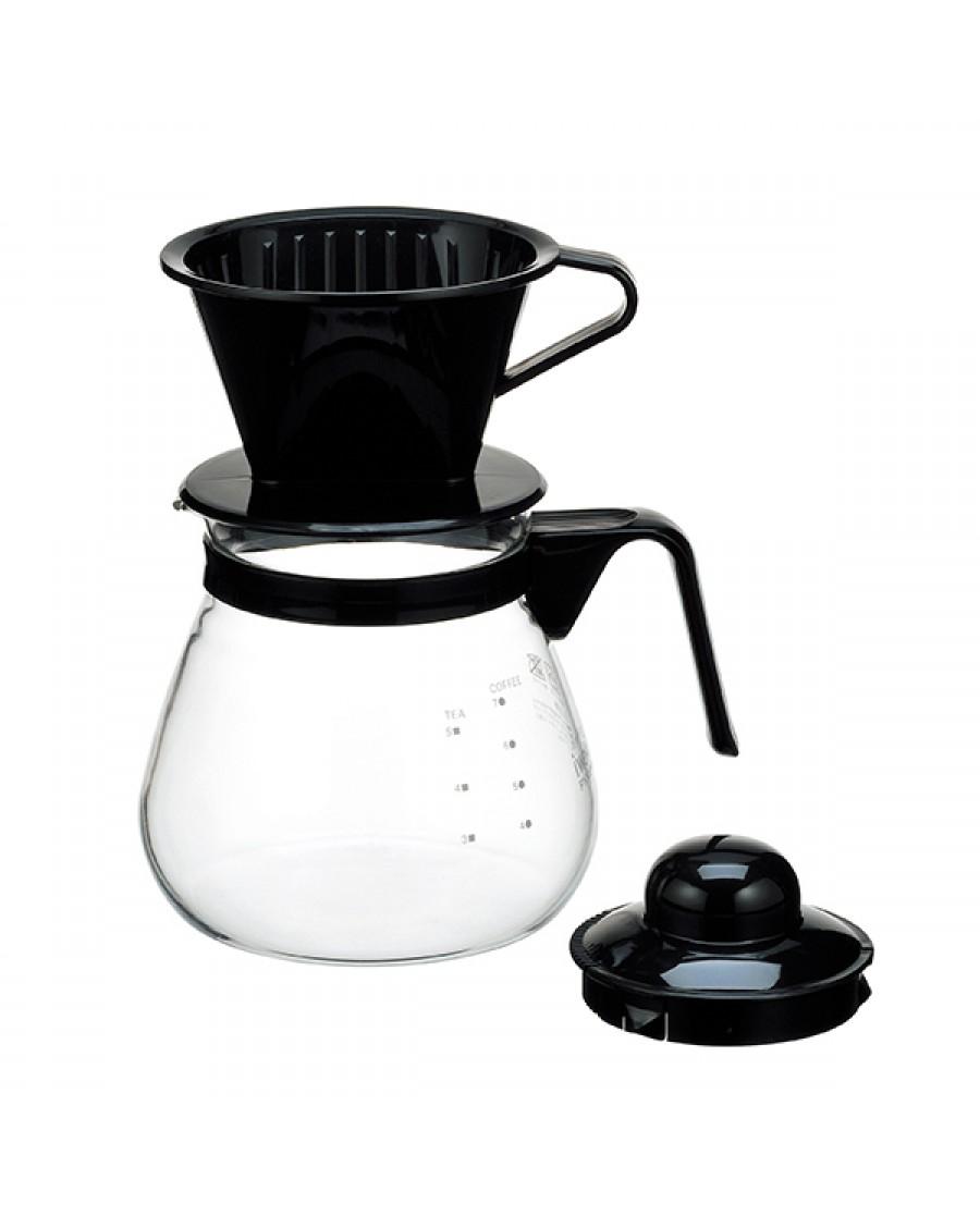 日本iwaki 耐熱玻璃特色咖啡壺1L