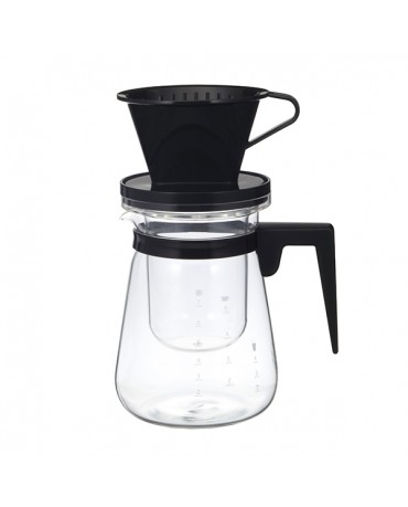 日本iwaki 耐熱玻璃冷熱兩用式咖啡壺1L