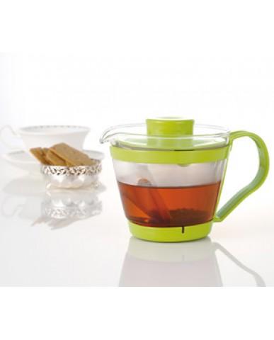 日本iwaki 耐熱玻璃新款茶壺400ml (綠)