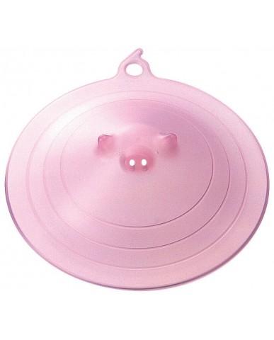 日本MARNA 矽膠豬鼻保鮮蓋-粉