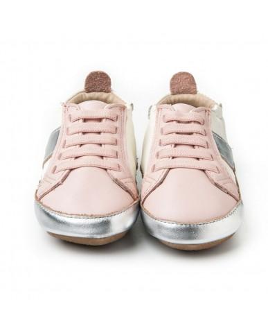 澳洲Old Soles Gig Shoe 小粉銀(學走)