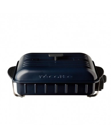 日本recolte Home BBQ 電燒烤盤-海軍藍