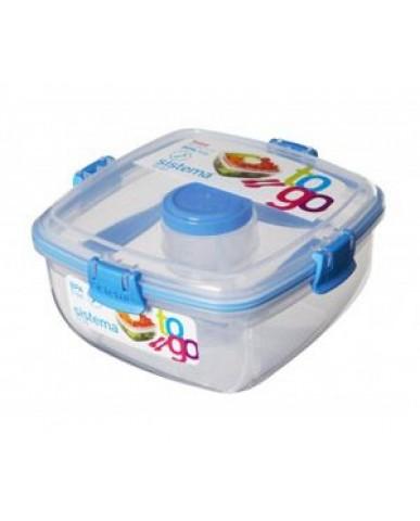 紐西蘭sistema 外帶沙拉保鮮盒1.1L-藍