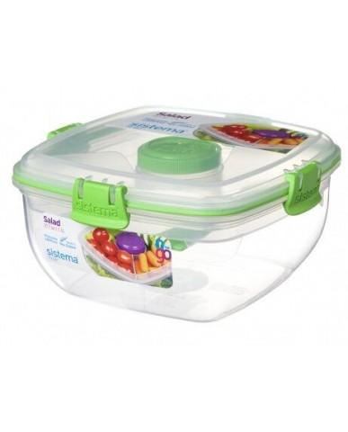 紐西蘭sistema 外帶沙拉保鮮盒1.1L-綠