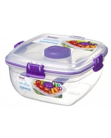 紐西蘭sistema 外帶沙拉保鮮盒1.1L-紫