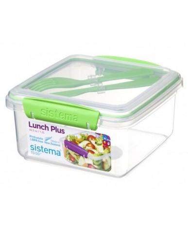 紐西蘭sistema 外帶沙拉保鮮盒1.2L-綠