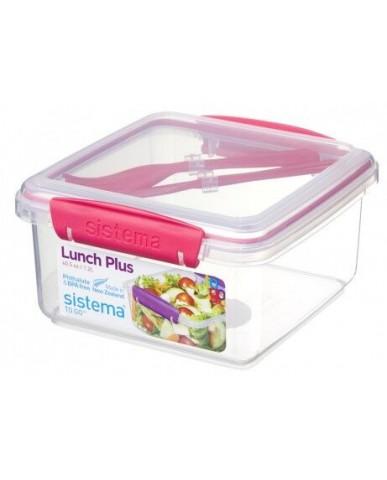 紐西蘭sistema 外帶沙拉保鮮盒1.2L-粉