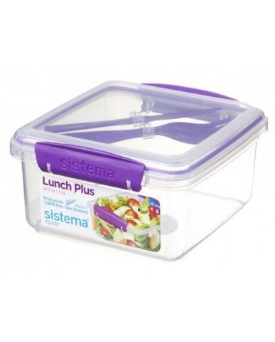 紐西蘭sistema 外帶沙拉保鮮盒1.2L-紫