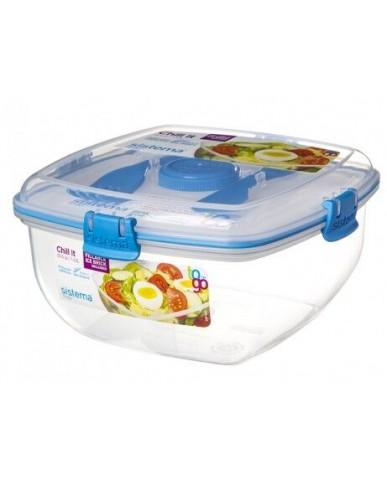 紐西蘭sistema 外帶沙拉保鮮盒1.3L-藍