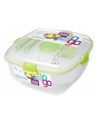 紐西蘭sistema 外帶沙拉保鮮盒1.3L-綠