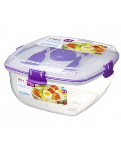 紐西蘭sistema 外帶沙拉保鮮盒1.3L-紫