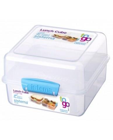 紐西蘭sistema 外帶雙層保鮮盒1.4L-藍