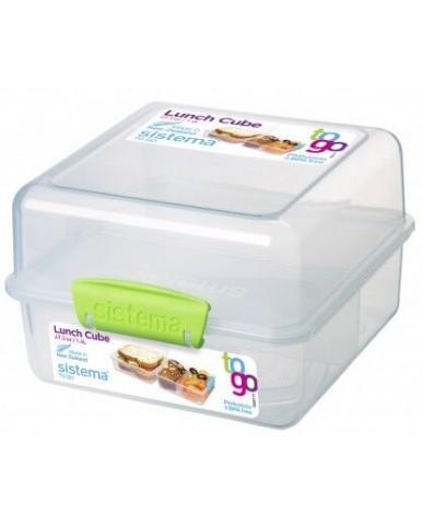 紐西蘭sistema 外帶雙層保鮮盒1.4L-綠